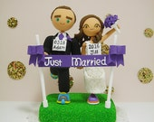 Marathon runners theme  Custom wedding cake topper