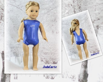 Blue USA Leotard/Swim Suit for American Girl Doll