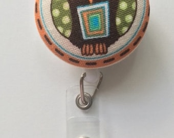 Cute custom gifts for her fabric owl id badge key lanyards for teachers or nurses