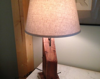 Table Lamp made from Telephone Pole Cross Member