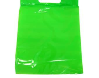 Gummibär (The Gummy Bear)  Green Plastic Treat / Goody / Favor Bags