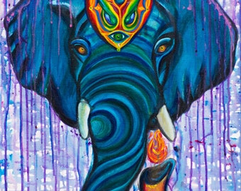 Elephlame Canvas Glicee Print