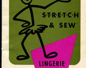 1970's Stretch & Sew Book How to Sew Lingerie by Ann Person
