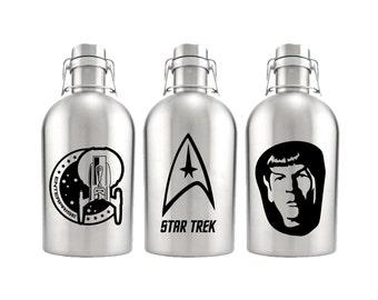 Star Trek Growler 64oz- Stainless Steel Growler- Star Trek Fan Gift- Enterprise Spock Gift