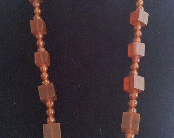 Chunky Cognac Baltic Amber Necklace Vintage Statement Piece 93g
