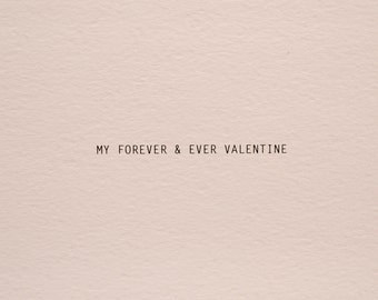 Forever and Ever Valentine Card her valentines day card him, love card, valentines card for boyfriend valentine card him, greeting card