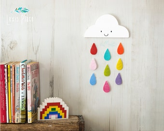 cloud wall decor etsy. Black Bedroom Furniture Sets. Home Design Ideas