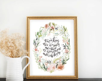 Scripture Print: A Season and a Time