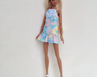Summer sundress for Poppy Parker, Dynamite Girls and similar size dolls