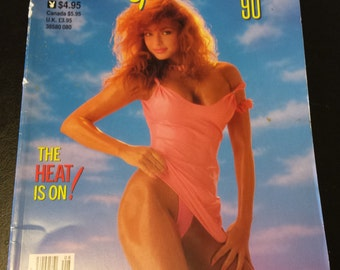 """Vintage Playboy's Girls of Summer """"The Heat Is On"""" Book 1990"""