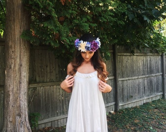 Oversized Rustic Flower Crown