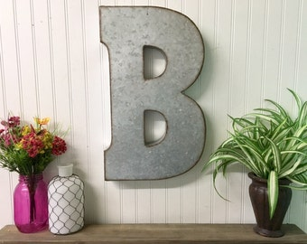 Giant Metal Letters For Wall Large Wall Letters  Etsy