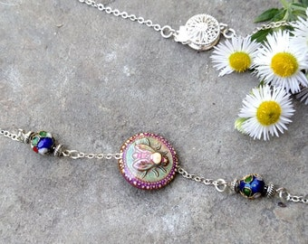 Honey Bee Necklace, Moody Bee Necklace,