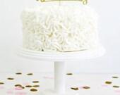 Glitter 'Happy Birthday' Cake Topper - Handmade Cake Topper - Gold, silver, bronze or champagne glitter, Happy Birthday Party Cake Topper