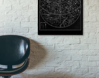 Victorian Astrological Constellations Reproduction Print,Black and White, Home/Office/Child's Decor Print #669