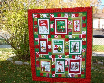 Lap Sized 'How the Grinch Stole Christmas' Quilt - Free shipping in North America!