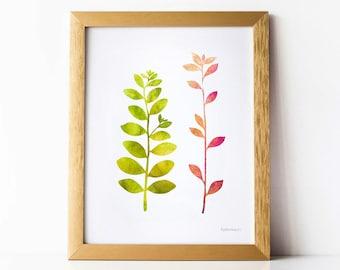 Digital printable Spring print, Wall decorations ideas, Feminine art, Nature print, Spring wall art for Bedroom decor, Green and pink print