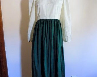 70s Dress, Country Dress, Hippie, Prairie, Costume, Theater, Reenactment, Vintage Handmade, Womens Vintage Clothing, Size 12