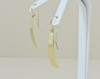 Sterling Silver Gold Plated Dangle Earrings