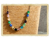 Long necklace with beads. One of a kind. Valentine's gift. Christmas gift.