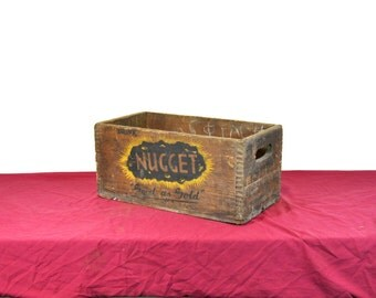 Storage Box Wood Box Wooden Box Soda Crate Decorative Box Chalk Nugget Good As Gold Red Fox Ginger Ale Wood Crate Wooden Crate Rustic Crate