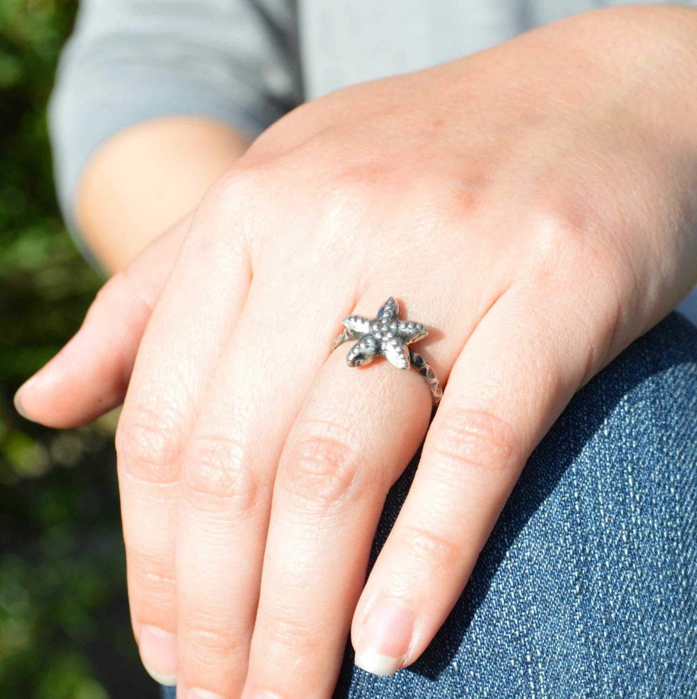 starfish ring starfish jewelry starfish wedding
