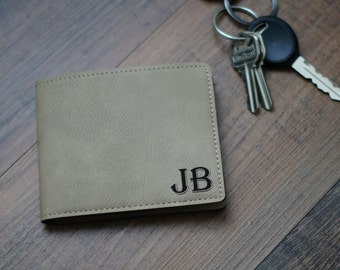 Personalized Leather Wallet, Personalized Wallet, Custom Leather Wallet, Engraved Leather Wallet, Groomsmen Gifts, Bi Fold Wallet