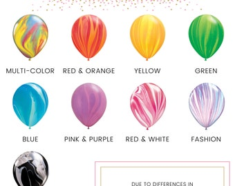 """11"""" Tie-Dye - Marble Latex Balloons // 6 Pack // Birthday and Wedding Balloons // Paper and Party Supplies"""