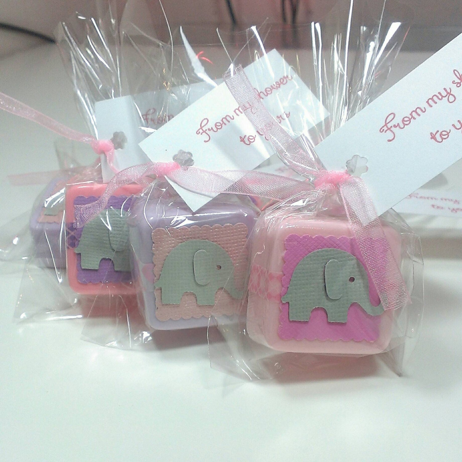 24 baby shower favors girl baby elephant shower favors