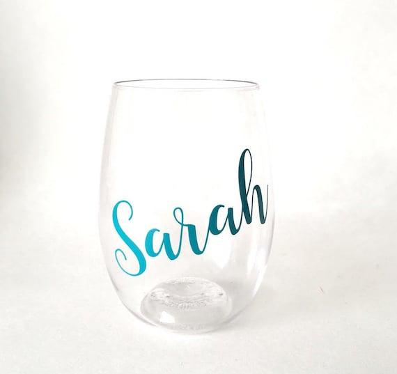 Plastic Wine Glass Personalized Wine Glass Bridesmaid Gift