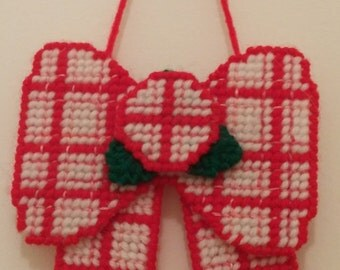 Red and White Bow Decoration