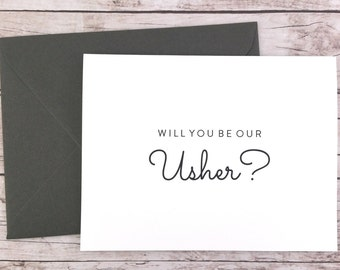 Will You Be Our Usher Card, Will You Be My Usher Card, Wedding Card- (FPS0016)
