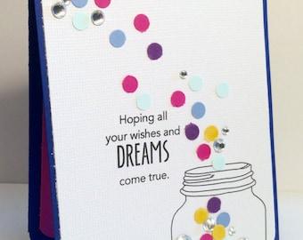 Wishes and Dreams Confetti Card