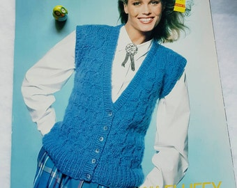 1986 Unger Fluffy Knitting Pattern for a Sweater Vest