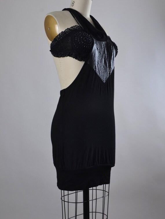 RESERVED - Summer Black Mini Dress - Sexy Black Summer Dress - OOAK black dress - Black Mini Dress - Summer Dresses
