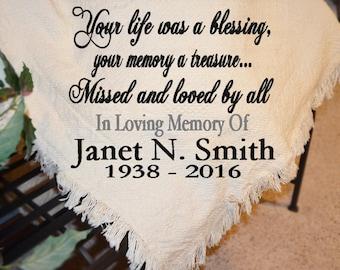 Funeral Blanket Etsy