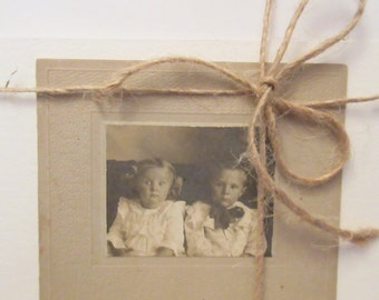 """Recycled antique silver print photograph greeting card, ,""""Oh Sh*t."""" handmade blank card"""