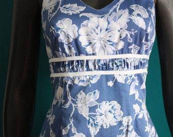 Vintage pinup style floral dress