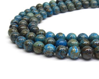Blue Jasper, 6mm Beads, 8mm Beads, Jasper Beads, Stripe Jasper, Blue Gemstone, Blue Jasper Beads, Blue Beads, Turquoise Blue, Gemstone Beads