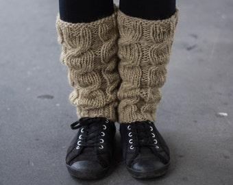 Leg Warmers In Beige / Boot cuff / Wool Leg Warmers