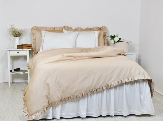 Ruffled Bedding Full Queen King Size Ruffle Duvet Cover