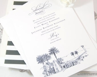 Thunderbird Country Club Skyline Rehearsal Dinner Invitations (set of 25 cards)
