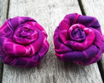 Purple Lapel Flower - Purple Lapel Rose - Rolled Lapel Flower - Fabric Lapel Flower - Purple Lapel Button -Flower Lapel Button-Men Lapel Pin