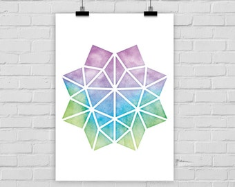 fine-art print GEOMETRIC WATER