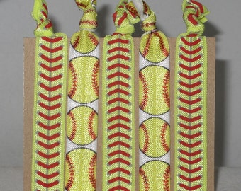Set of 5 SOFTBALL hair ties