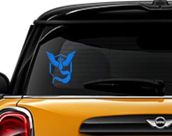 Pokemon Go decal, FREE SHIPPING, Team Mystic decal, #pokemon, kids room decor, #teammystic, dorm room decor, home decor decal #217