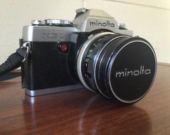 Minolta XG-1 35mm camera - circa 1970s - Rikkor lens