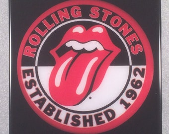 THE ROLLING STONES Tongue and Lip Design Ceramic Tile
