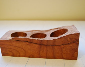 Spalted Maple 3 Candle Holder