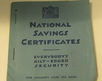 Vintage British Ephemera - 1950s National Savings Certificates Booklet